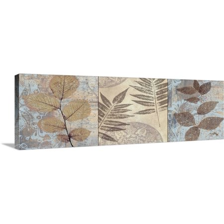 Great BIG Canvas | Elizabeth Medley Premium Thick-Wrap Canvas entitled Leaves and Rosettes