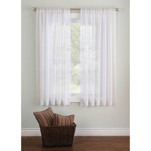 Better Homes & Gardens Elise Woven Stripe Sheer Window Panel