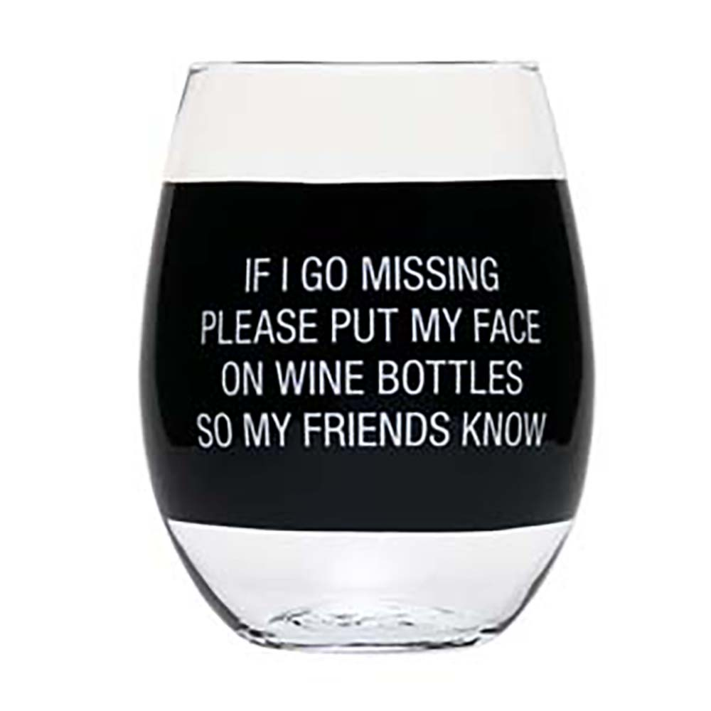 About Face Designs Wine Glass- Face on Wine Bottle by About Face Designs