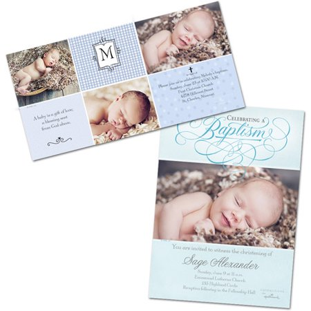 Baby Baptism Photo Cards Walmart – Baptism Invitations Cards