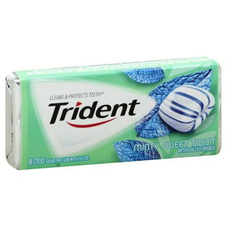 Trident Minty Sweet Twist Sugar Free Gum 18 Pieces Walmartcom