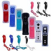 LUXMO Wii Remote Controller Motion Plus and Nunchuck for Wii/Wii U Console Video Games