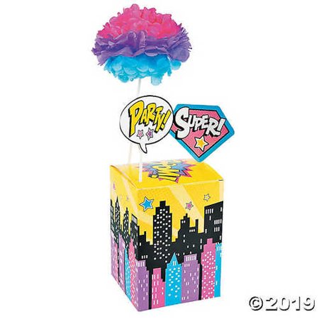 Superhero Girl Centerpiece - Superhero Centerpieces