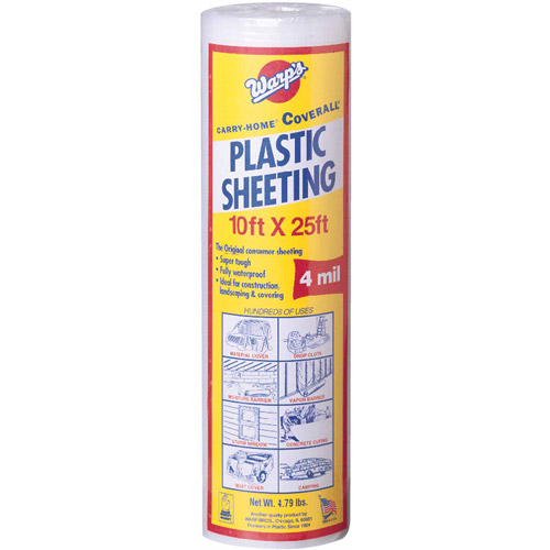 "Warp Brothers SP-4CH10-C 10"" x 25' Clear Plastic Sheeting"