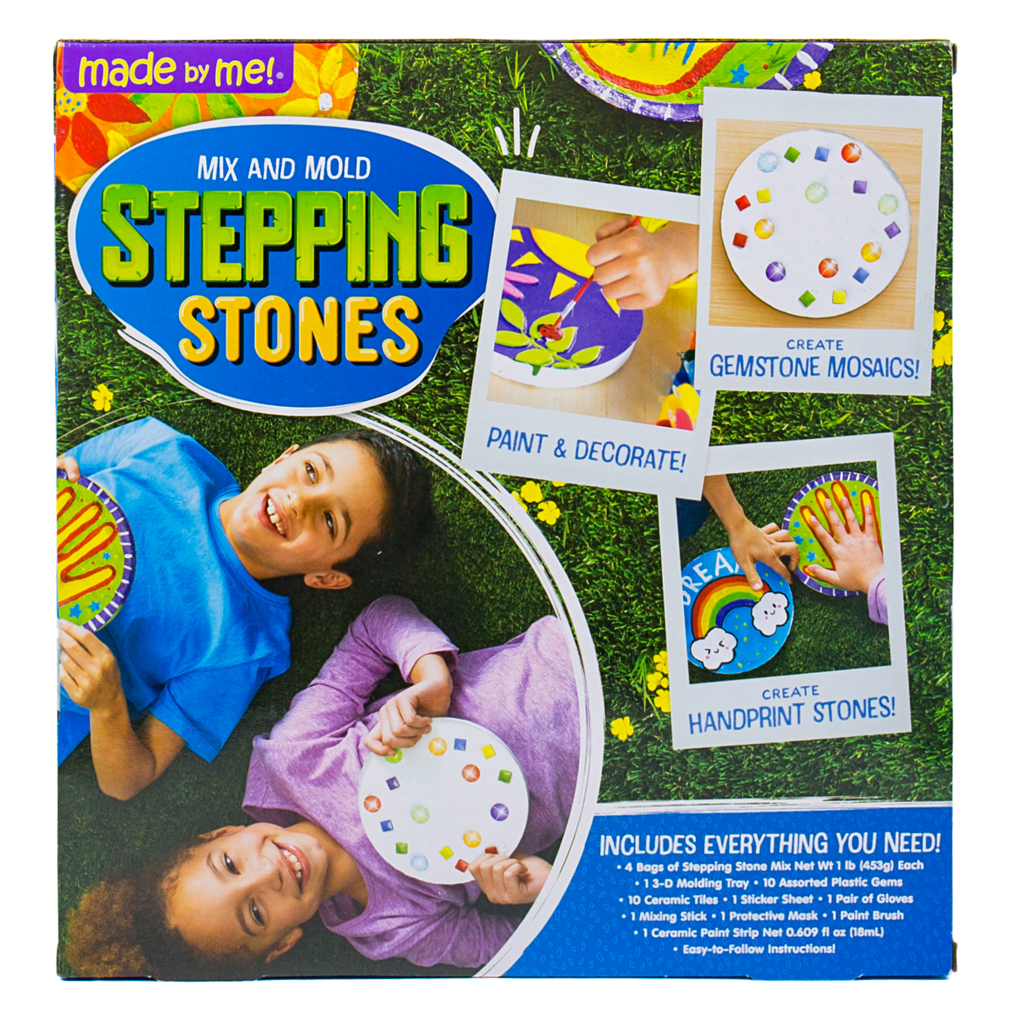 Made By Me D I Y Stepping Stones 7 In Each 4pcs Walmart Com Walmart Com
