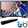 Samsung UN32M4500 32-Inch 720p Smart LED TV (2017 Model) w/ Sound Bar Bundle Includes, Solo X3 Bluetooth Home Theater Sound Bar, 6ft High Speed HDMI Cable and LED TV Screen Cleaner E62SAMUN32M4500 UN32M4500 32 Smart LED HDTVStandPower CordUser GuideDocumentationBundle Includes:Samsung 32-Inch 720p Smart LED TV (2017 Model)Xtreme Solo X3 Bluetooth Home Theater Sound Bar6ft High Speed HDMI Cable (Black)Universal Screen Cleaner (Large Bottle) for LED TVs