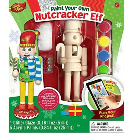 Works of Ahhh Nutcracker Elf Large Wood Paint Kit, MasterPieces Works Of Ahhh Nutcracker Elf Large Wood Paint Kit By MasterPieces (Nutcracker Kit)