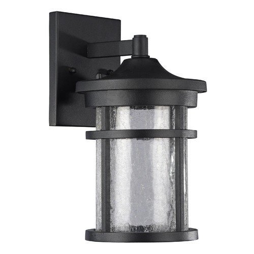 "CHLOE Lighting FRONTIER Transitional LED Textured Black Outdoor Wall Sconce 11"" Height"
