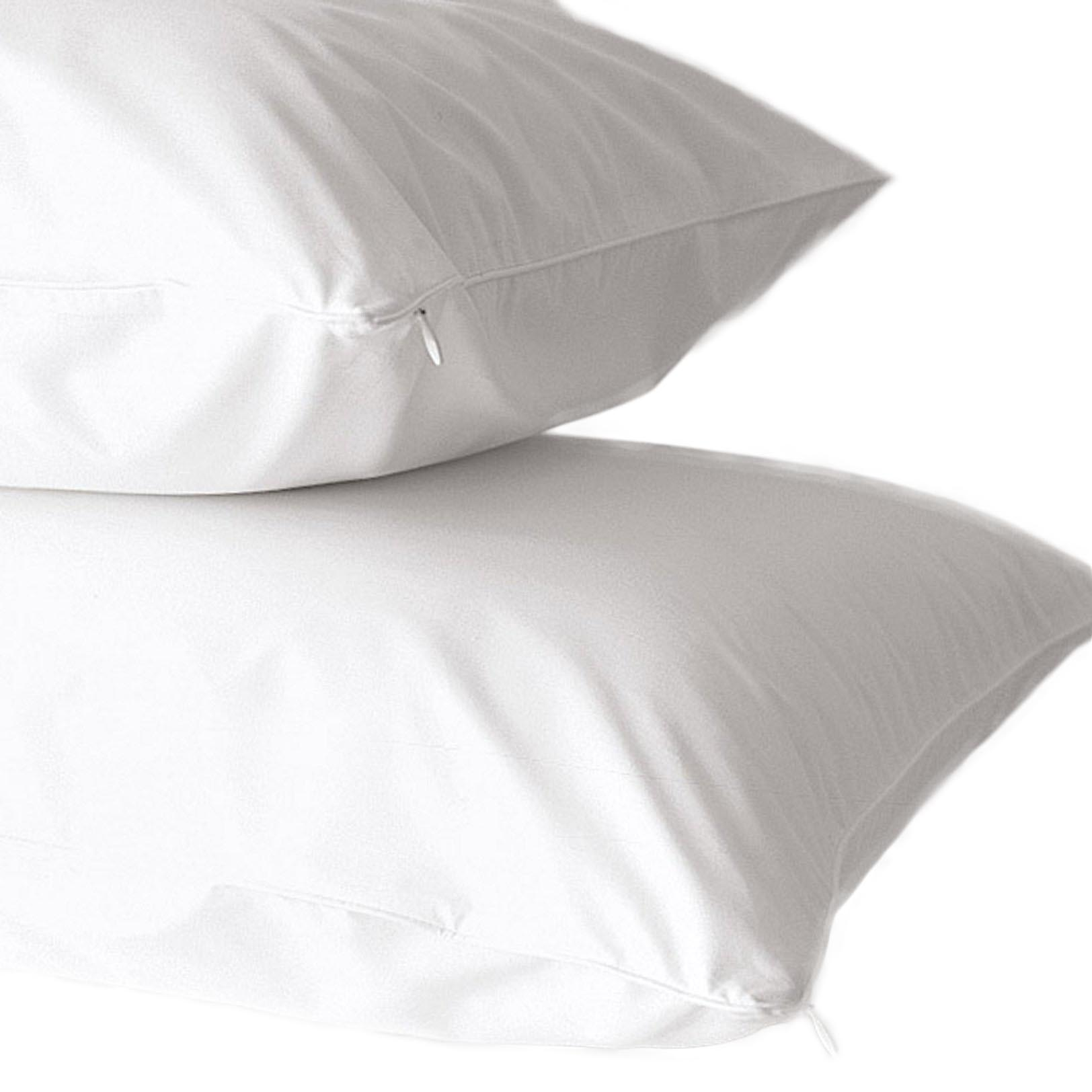 2-Pack 100% Cotton 400 Thread Count Allergy Pillow Protectors By Home Fashion Designs by Home Fashion Designs