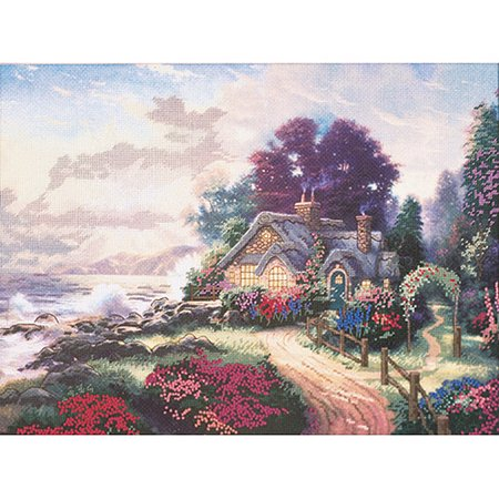 Candamar Designs Thomas Kinkade A New Day Dawning Embellished Cross Stitch Kit, 12