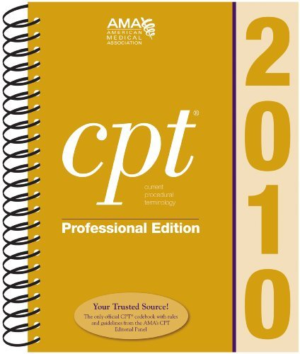 CPT 2010 Professional Edition by American Medical Assocation
