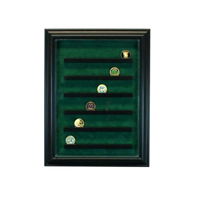 Perfect Cases PC-36COINCB-B 64 Coin Cabinet Style Display...