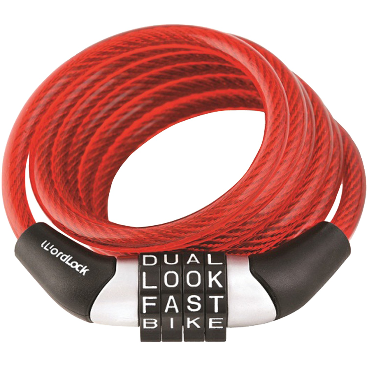 HBCCL455RD CL-455-RD Combination Non-resettable Cable Lock (red)