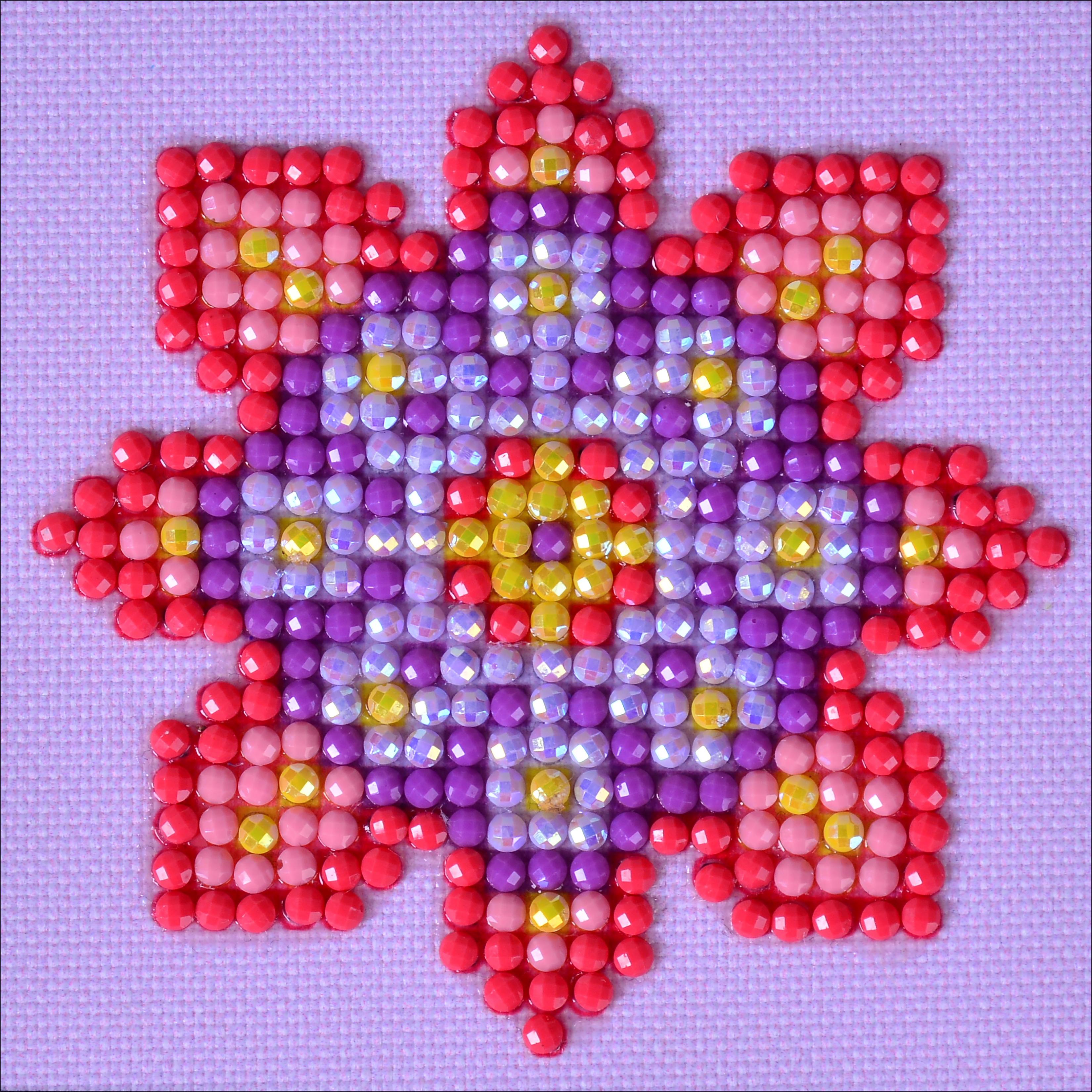 "Diamond Dotz Diamond Embroidery Facet Art Kit 4.75""X4.75""-Flower Mandala 2"