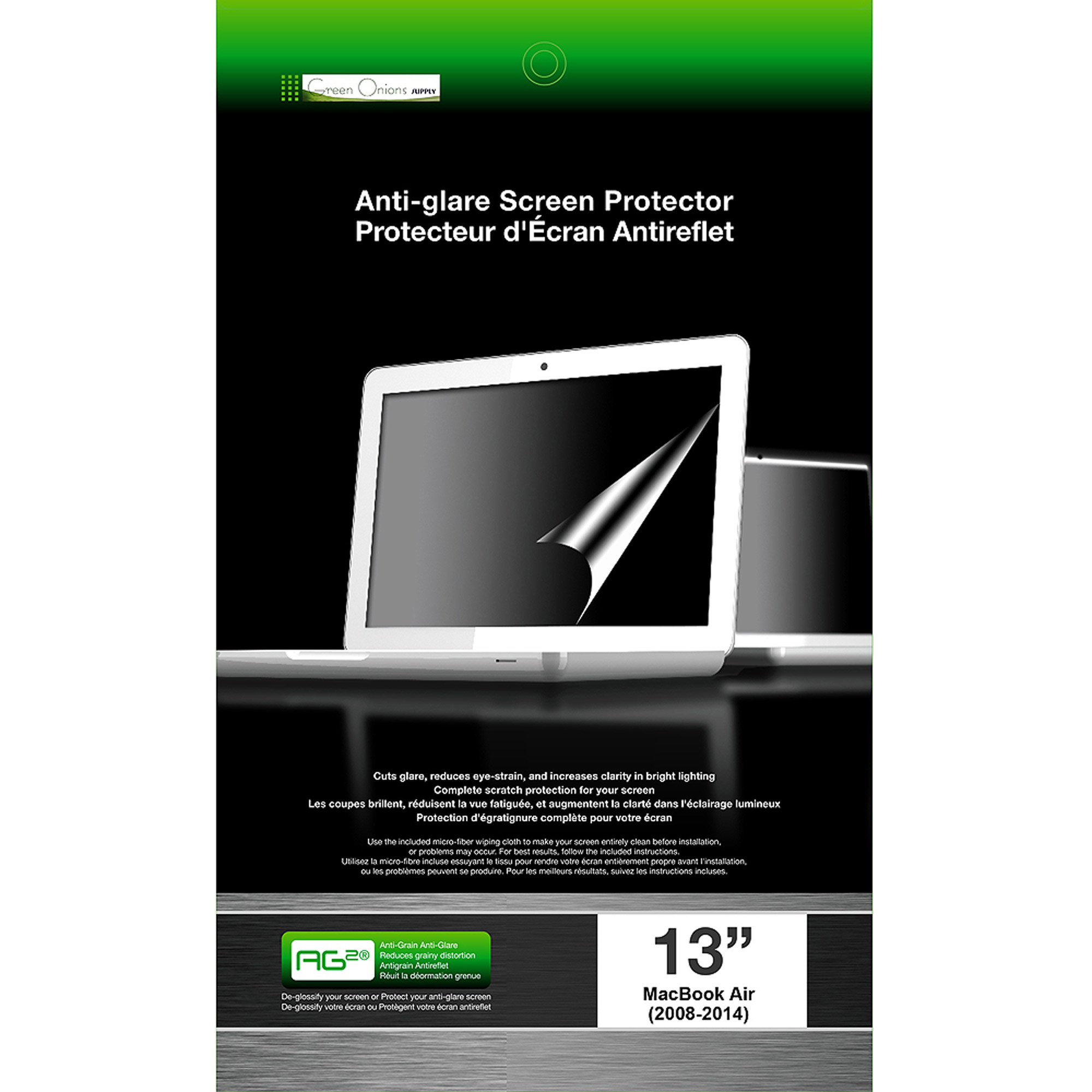 "Green Onions Supply AG2 Screen Protector for 13"" MacBook Air, Matte"