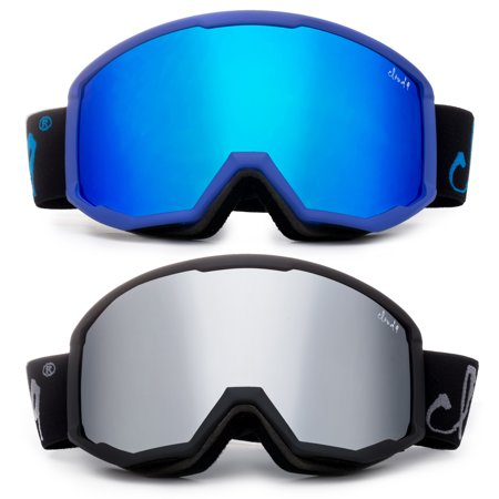 Cloud 9 - Snow Goggles Adult Anti-Fog Double Lens UV Protection Wide Angle Frameless Mirror Snowboarding Ski (2017 Model)(1 Pair only, choose your color)