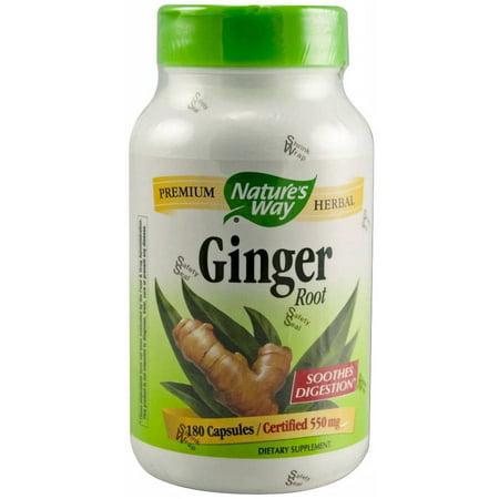 Ginger Root 180 Caps - Nature's Way Ginger Root Capsules, 180 CT