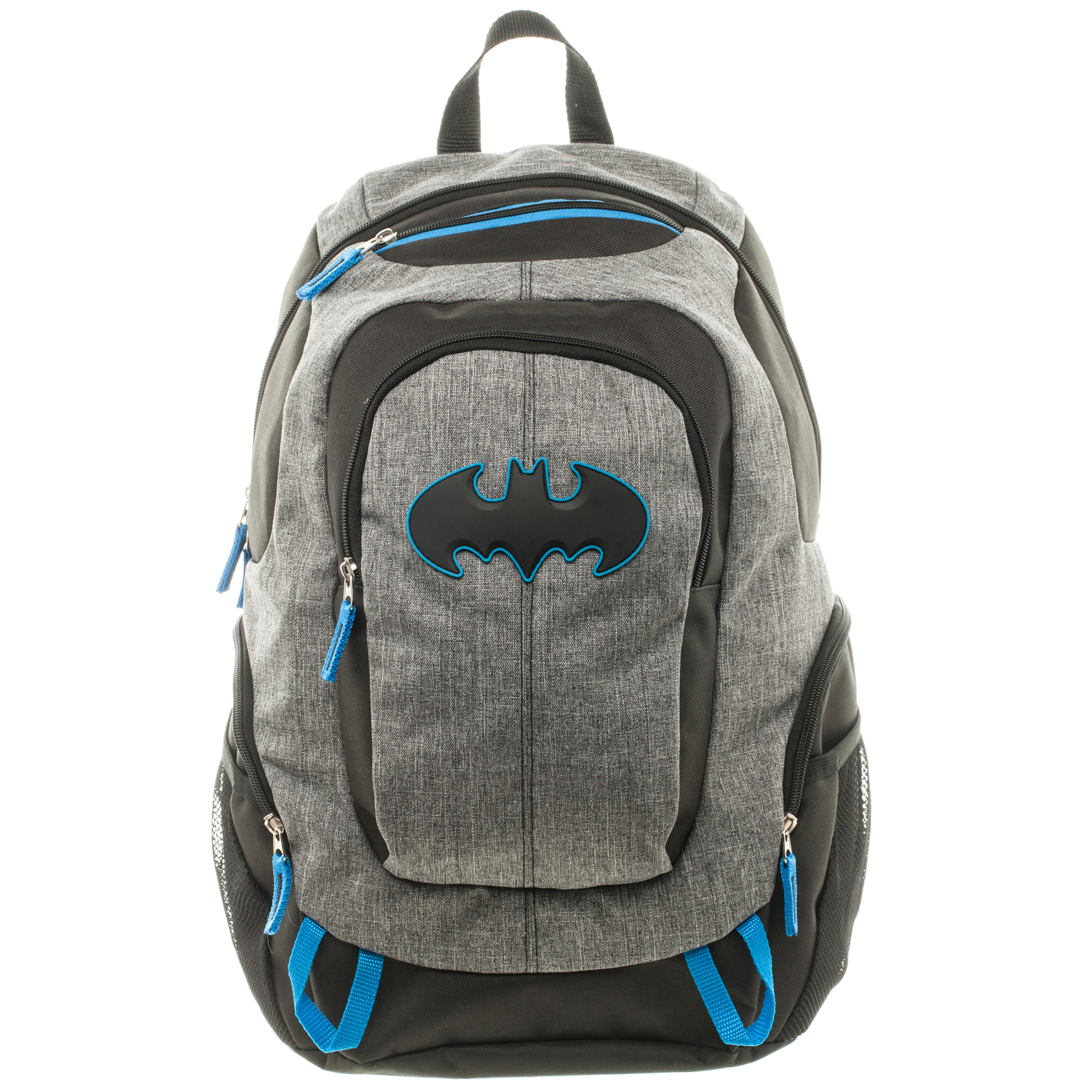 Batman Commuter Backpack with Extra Zip Compartmetns and Side Mesh Pockets