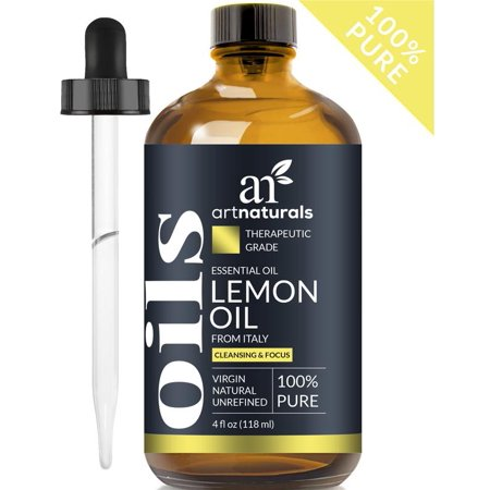 Essential Natural - Lemon Oil (4oz) - 100% Pure Unrefined Natural Essential Oil Aromatherapy