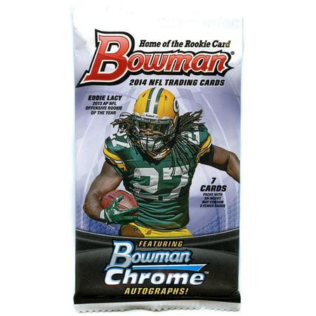 2005 Bowman Chrome Football Card - NFL 2014 Bowman Chrome Football Cards Trading Card Pack