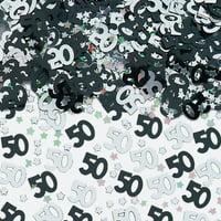 14g 50th Blue Happy Birthday Party Glitz Table Confetti Sprinkles Decorations