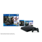 Sony PlayStation 4 Slim 1TB Only On PlayStation - 3 Games Bundle: God of War, The Last of Us Remastered, and Horizon Zero Dawn: Complete Edition