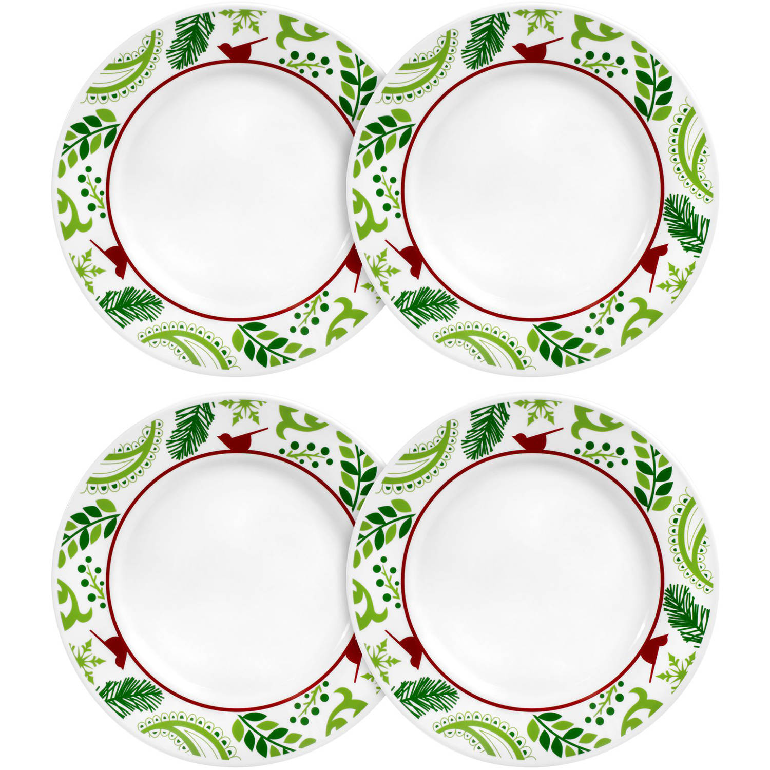 Corelle Impressions 10.75  Dinner Plate Birds and Boughs Set of 4 - Walmart.com  sc 1 st  Walmart & Corelle Impressions 10.75