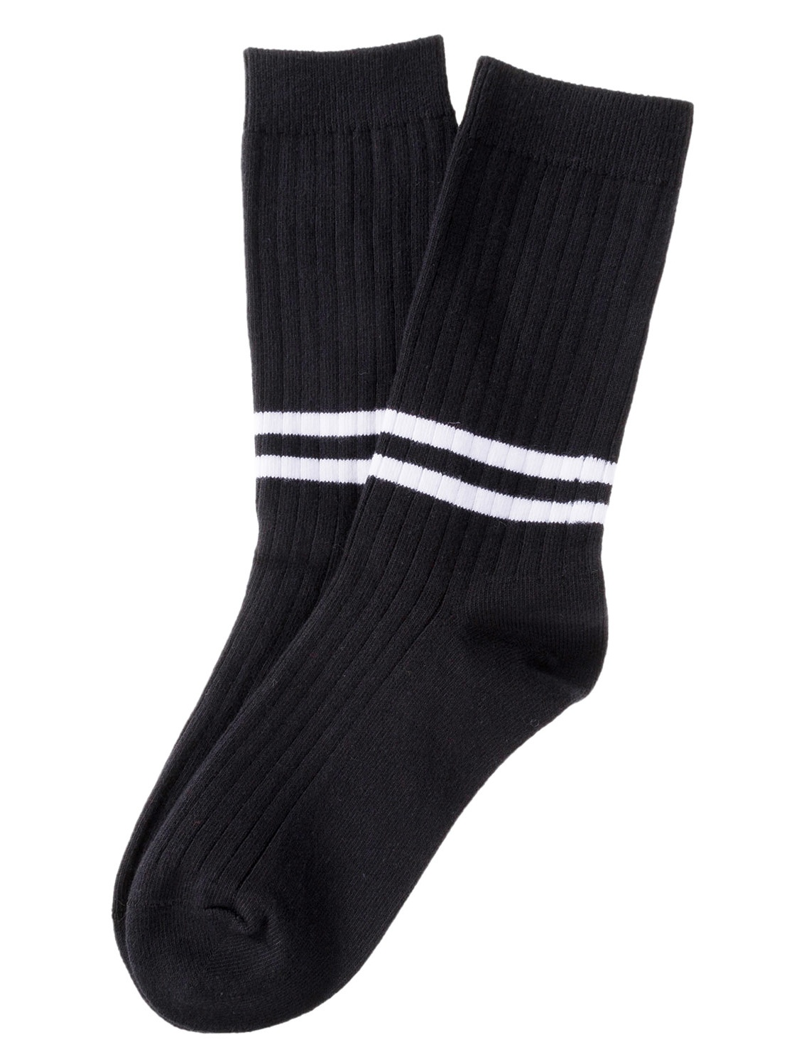 Lian LifeStyle Big Girl's 3 Pairs Cotton Blend Crew Socks Striped HR1790 Casual Size L/XL 3 Colors Style 01(Black, Cream, Brick Red)