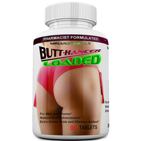 BUTTHANCER Loaded The Natural Butt Enlargement & Butt Enhancement Pills. Glutes Growth and Bigger Booty Enhancer Pills Plus Skin Tightener. 90