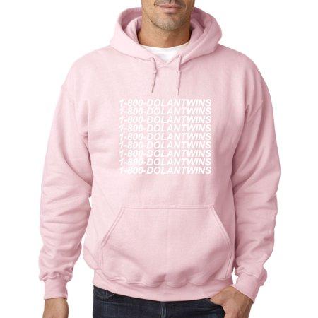 074b2816b 761 - Hoodie 1-800-DOLANTWINS Dolan Twins Hotline Bling Sweatshirt Large  Light Pink - Walmart.com