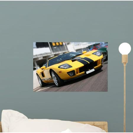 - Super Car Race Circuit Wall Mural Decal Sticker, Wallmonkeys Peel & Stick Vinyl Graphic (12 in W x 8 in H