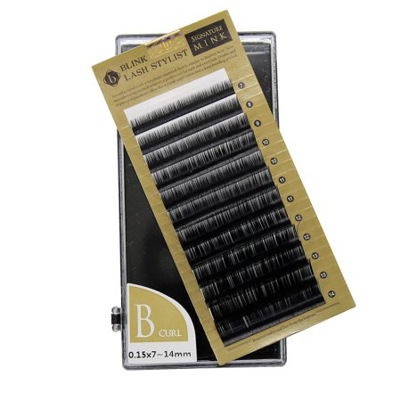 Eyelash Extension Blink Mink B 0.15 Curl 7mm-14mm Mixed Size Tray