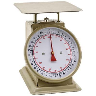 50 Lb Mechanical Scale - Winco SCLH-50 Mechanical Dial Scale, fixed, 50 lb., (800 oz.) capacity