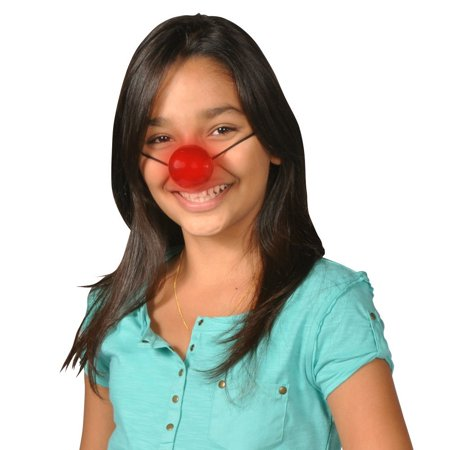 Light Up Rudolph Nose Led Flashing Red Blinking Clown Reindeer Costume Accessory - Bulk Clown Noses