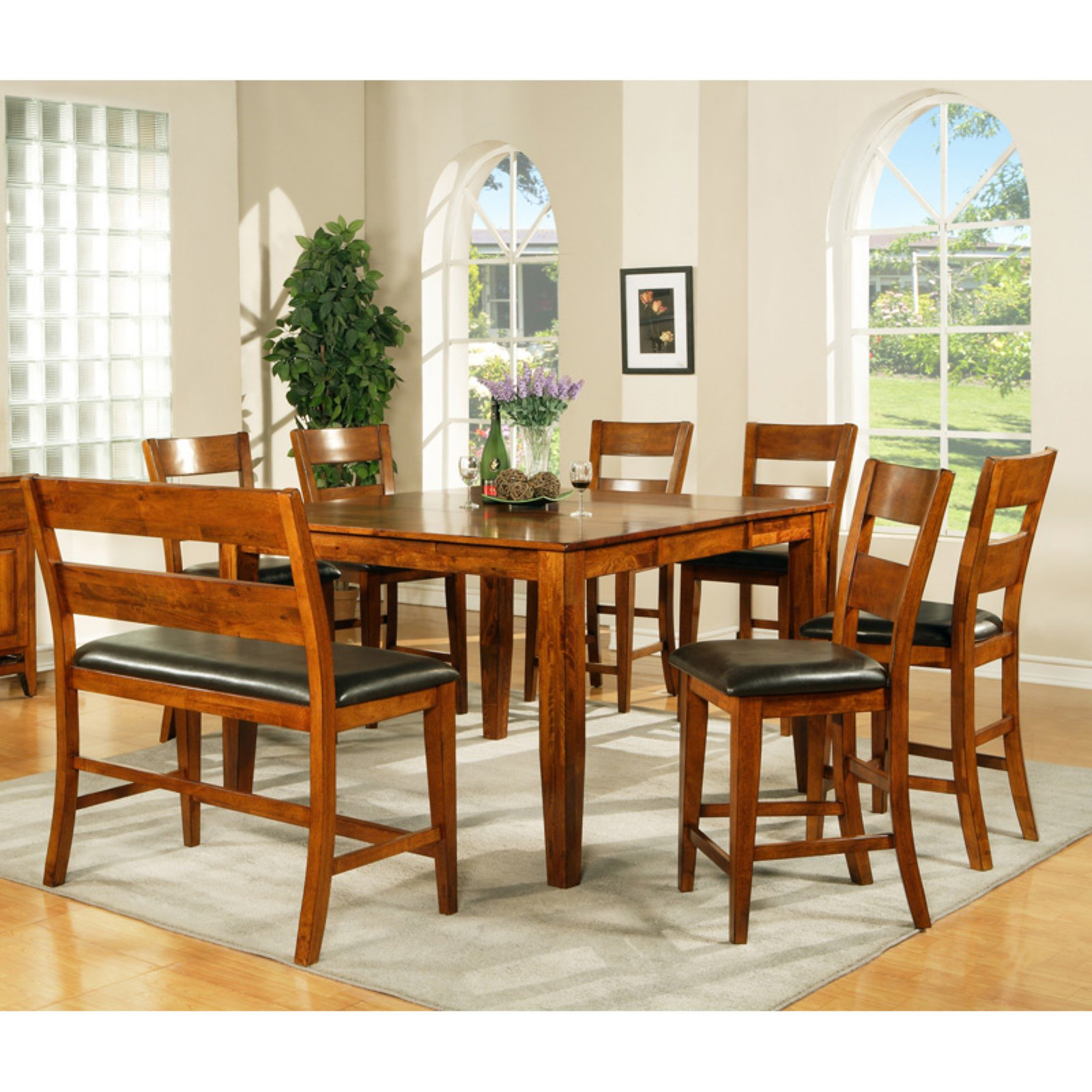 Steve Silver Mango Counter Height 8-Piece Dining Table Set
