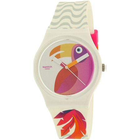 Collection Swiss Quartz Watch - Swatch Women's Gent GW175 Multi Silicone Swiss Quartz Fashion Watch