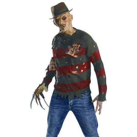Adult Freddy Krueger Sweater With Burned Flesh Costume by Rubies - Freddy Krueger Accessories