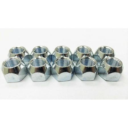 Set of 10 Trailer RV 1/2'-20 Cone Wheel Nuts - (Cone Nut)