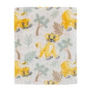 Disney Lion King Simba - Sage, Marigold, Tan Super Soft Baby Blanket