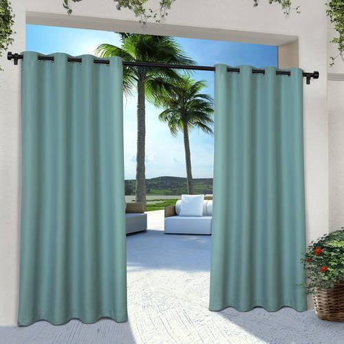 Exclusive Home Indoor Outdoor Solid Cabana Grommet Top Window Curtain Panel Pair 54x108,... by Exclusive Home