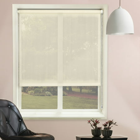 Chicology Continuous Loop Beaded Chain Roller Shade, Sheer - Sheer, See Through - Lydia Cream, 27