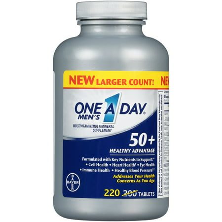 One A Day® Men's 50+ Healthy Advantage Multivitamin/Multimineral Supplement Tablets 220 ct