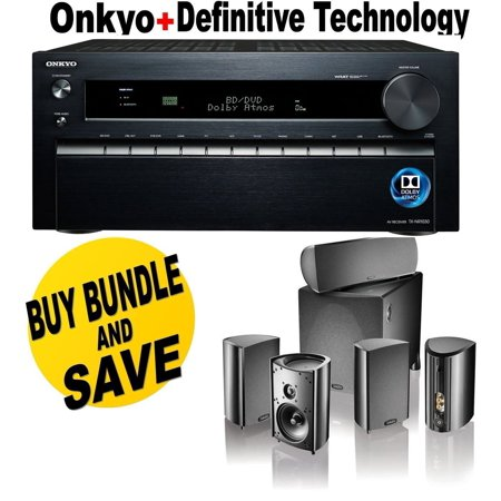 Onkyo TX-NR1030 Receiver Bundle with Definitive Technology ProCinema 800 System in Black