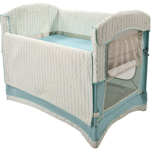 Arm's Reach Ideal Co-Sleeper Bedside Bassinet, French Blue