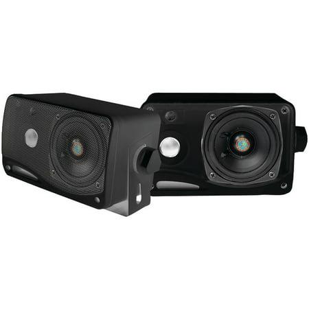 Pyle® Pyle® Hydra Series 3.5 200-watt 3-way Weatherproof Mini-box Speaker System (black)