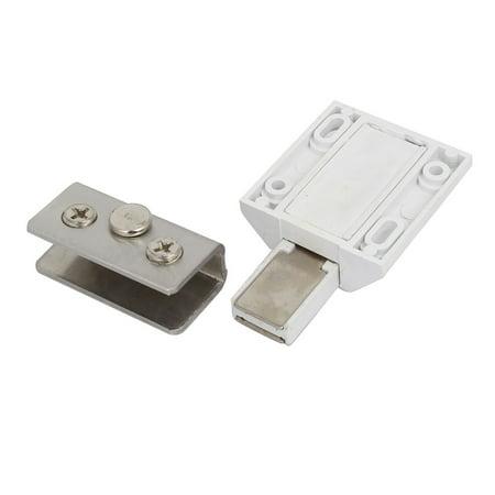Cabinet Shower Door Pivot Hinge Magnetic Catch Latch Glass