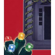 """Brite Star 18' x 2.75"""" Prelit LED Battery Operated Green Pine Christmas Garland - Multi Lights"""