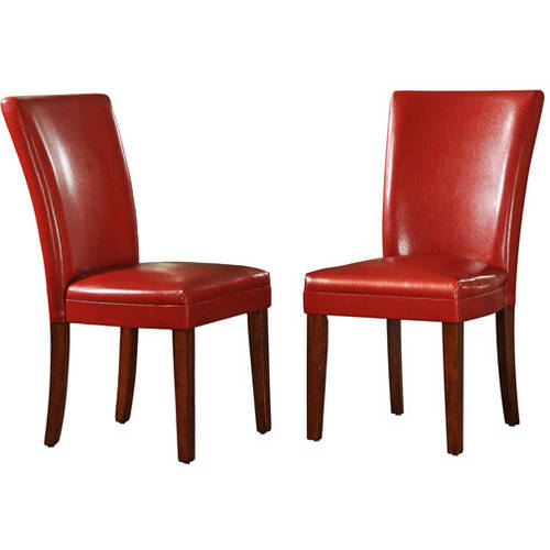 Ordinaire Parson Side Chairs   Set Of 2, Red Wine