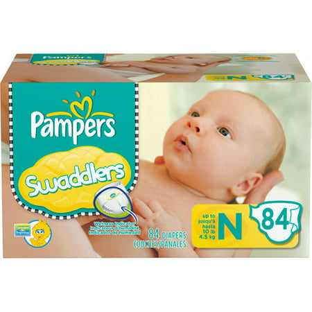 Pampers Swaddlers Diapers w/ Dry Max Newborn, 84 ct ...