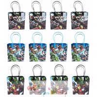 """Avengers 12 Authentic Licensed Party Favor Reusable Medium Goodie Gift Bags 6"""""""
